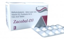 Methylcobalamin Alpha Lipoic Acid Folic Acid Pyridoxine Vit. D3 Tablets Manufacturers Suppliers