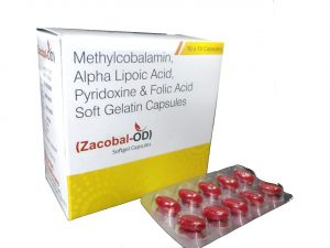 Methylcobalamin Alpha Lipoic Acid Pyridoxine Softgel Capsules Manufacturers Suppliers