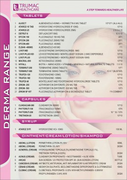 dermatology products franchise
