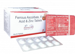 Ferrous Ascorbate Folic Acid Zinc Tablets Manufacturers Suppliers