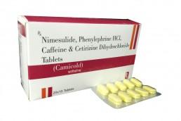 Nimesulide Phenylephrine Cetirizine Caffeine Tablets Manufacturers Suppliers